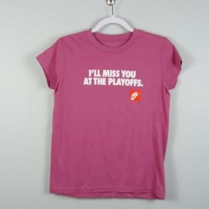 Nike miss you at playoffs short sleeve shirt Small